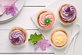 Cupcakes with pastel icing