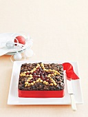A square fruitcake for Christmas