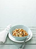 Potato gnocchi with Stilton sauce