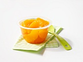Poached oranges in syrup
