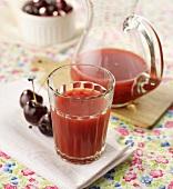 Nectarine and cherry juice