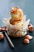 Savoury onion Buchteln (baked yeast dumplings)