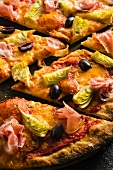 Slices of Artichoke, Pancetta and Olive Pizza