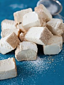 Homemade Marshmallow with Honey and Spiced Almond Coating