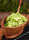 Guacamole in a Mexican dish