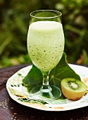 Cucumber and avocado smoothie with kiwi
