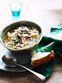 Lamb soup with lentils