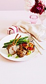 Stuffed rack of lamb with tomato salsa for Valentine's Day