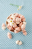 A Bowl of Meringues; Overhead