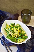 Steamed vegetables with chive butter