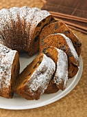 French spice cake with prunes
