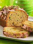 Pistachio cake with rosewater