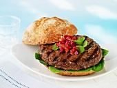 Burger mit Acaikompott