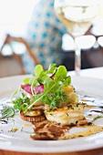 Vorspeise mit Garnelen & Salat