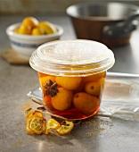 Kumquats preserved in rum