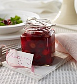 Cranberry sauce, tangy
