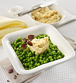Peas with sherry butter