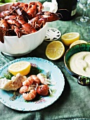 Yabbies with verjuice mayonnaise