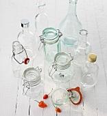 Bottles and preserving jars