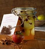 Cinnamon apples in lemon liquor