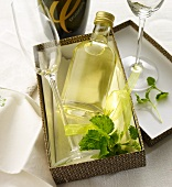 Lemon balm syrup for a prosecco cocktail