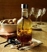 Home-made walnut liqueur