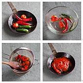 Chilisauce herstellen