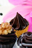 Chocolate treats with flower decoration