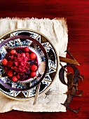 Watermelon and boysen berry granita