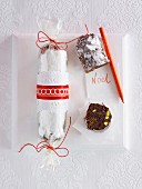 A Christmas chocolate salami
