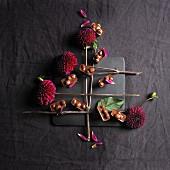Schokoladen-Nuss-Konfekt
