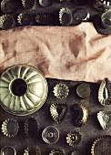 Various metal baking tins