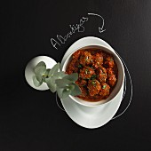 Albondigas (Spanish meatballs) in a spicy tomato sauce