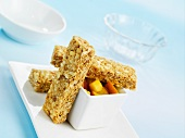 Muesli bars with fruit