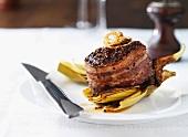 Beef fillet steak wrapped in bacon