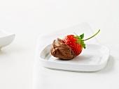 Erdbeere mit Schokoladenmousse
