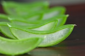 Sliced aloe vera shoots (close-up)