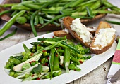 Bean and asparagus salad with peas