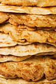 A Stack of Oatcakes; Close Up