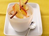 Celeriac soup with an apple skewer