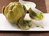 Artichoke with dips