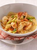 Prawn curry with fennel