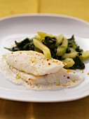 Haddock with spinach and celery