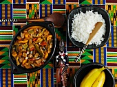 Cape Malay curry with rice (South Africa)