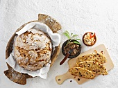 Sweet bread with dried fruits and nuts