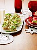 Prosciutto-Zucchini-Tarte zu Weihnachten