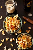 Bowls of Spicy Popcorn with Hot Sauce