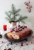 Lemon Cake with Cranberry and Lemon Icing