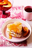 Cinnamon and ricotta pikelets with maple syrup
