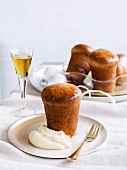 Rum babas with orange cream for Christmas